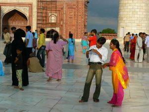 People at Taj Mahal